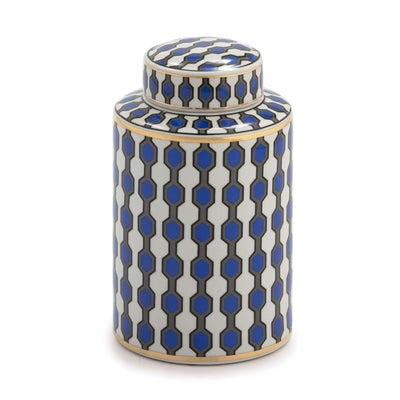 Design KNB Earthenware Ceramic Jar in Blue/White