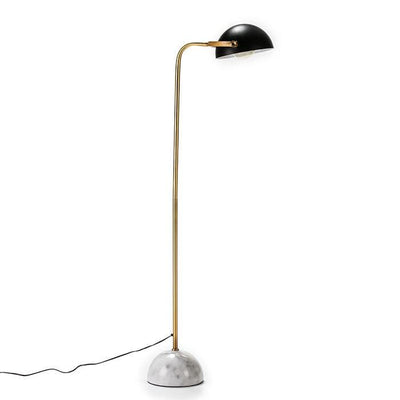 Design KNB Floor Lamp with White Marble and Golden and Black Metal Stand