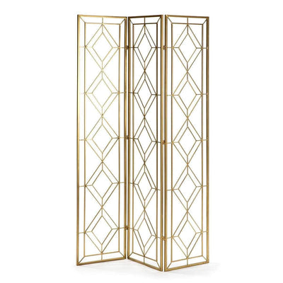 Design KNB Folding Screen in Golden Metal
