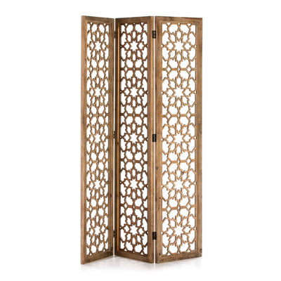 Design KNB Folding Screen in Natural Veiled Wood/MDF
