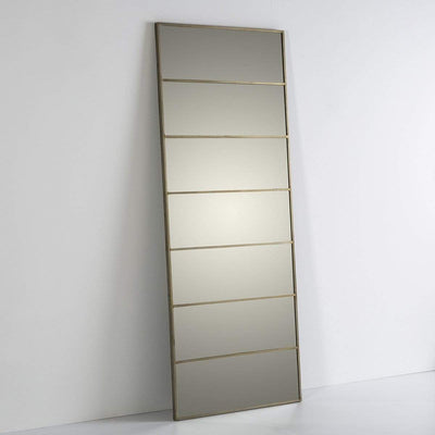 Design KNB Full-Length Glass Mirror with Golden Metal