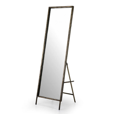 Design KNB Full-Length Golden Metal Standing Mirror