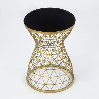 Design KNB Golden and Black Metal Stool