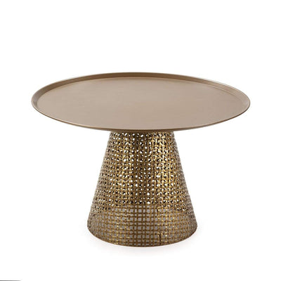 Design KNB Golden Metal Coffee Table
