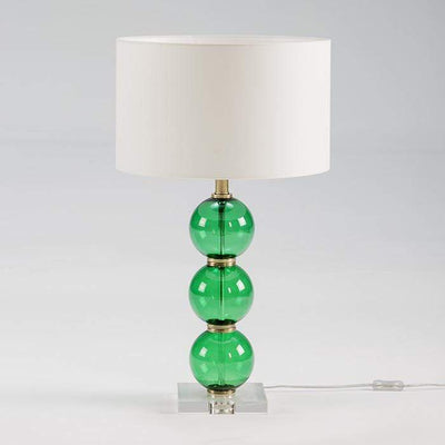 Design KNB Green Glass Table Light (without Lampshade)