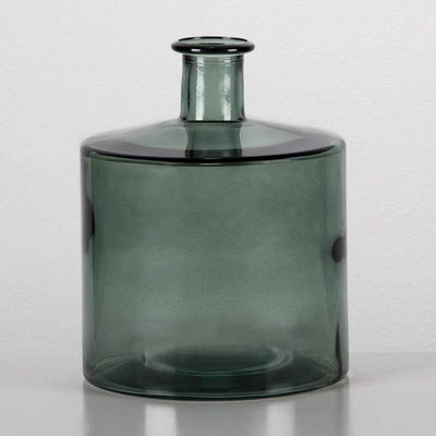 Design KNB Green Glass Urn/Vase