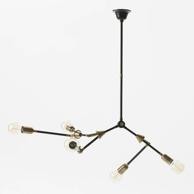 Design KNB lighting Ceiling Lamp with Gold and Black Metal branches