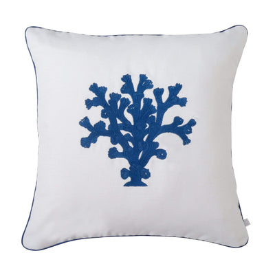 Design KNB Luxurious Cushion Coral No2 Navy with Piping