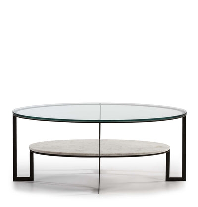 Design KNB Marble and Glass Coffee Table