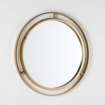 Design KNB mirror Simple Round Glass Mirror in Golden Metal