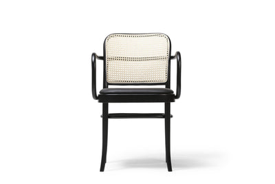 Design KNB N.811 Armchair upholstered beech chair with armrest by TON (Sold in a set of 2 chairs)