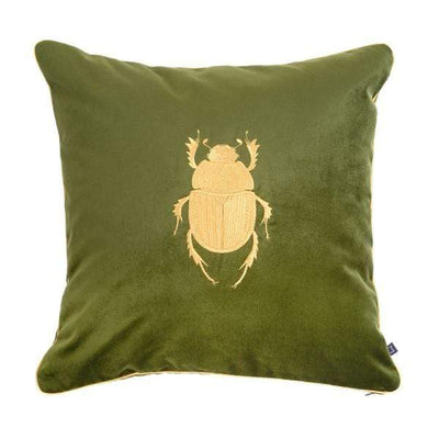 Design KNB Olive Luxury Velvet Cushion Insectarium N ° 2