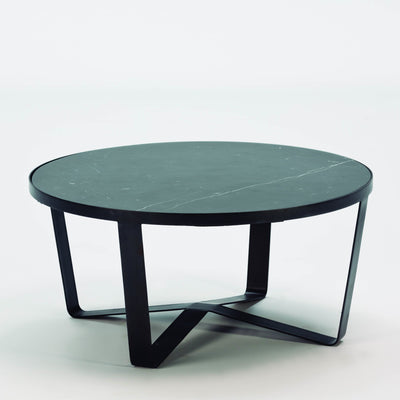Design KNB Round Black Marble Coffee Table