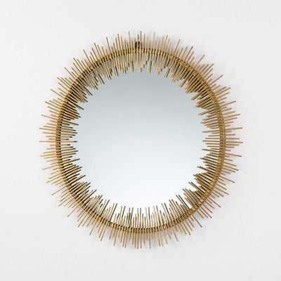 Design KNB Round Golden Metal Mirror with Metal spikes