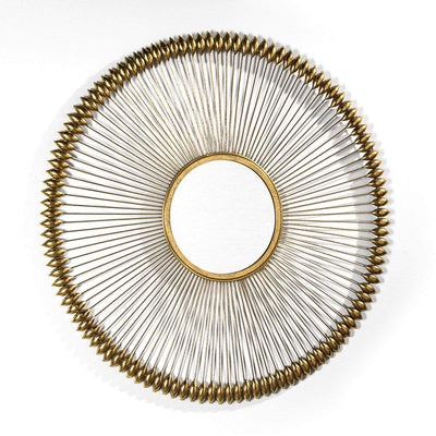 Design KNB Round Golden Mirror with details