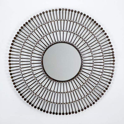 Design KNB Round Metal Copper Mirror