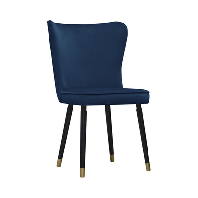 Design KNB Royal Navy Blue Monti Velvet Dining chair