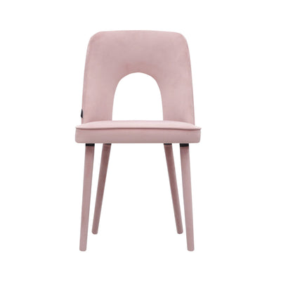 Design KNB seating Baby Pink Augusto Velvet Dining Chair