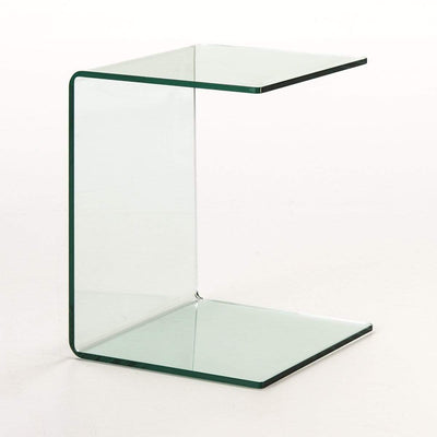 Design KNB Side Table/ End Table in Transparent Glass