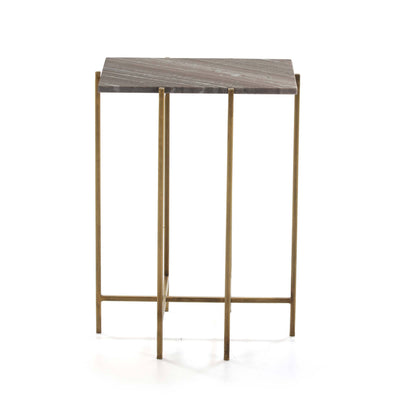 Design KNB Side Table in Marble and Golden Metal