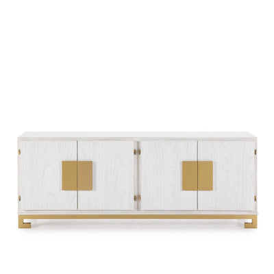 Design KNB Sideboard in White & Golden Wood