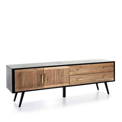 Design KNB Sideboard/ TV Unit in Black/Natural Wood
