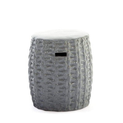 Design KNB Stool/Side table in Stoneware Grey