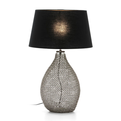Design KNB Table Lamp in Glass/Metal Silver without Lampshade