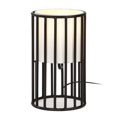 Design KNB Table Light in Black Metal with a White Lampshade