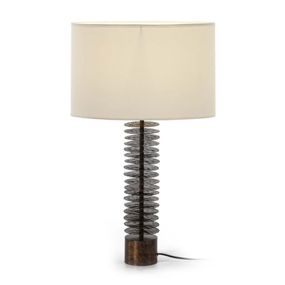Design KNB Table Light in Brown Metal without a Lampshade