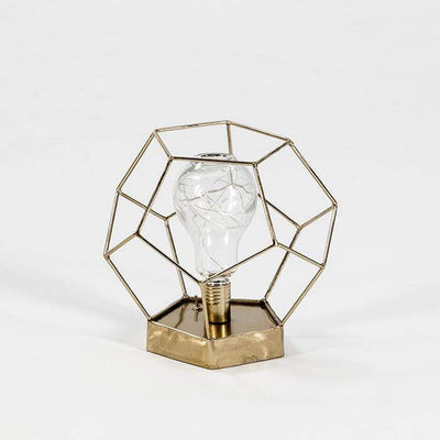 Design KNB Table Light in Golden Metal operated by batteries