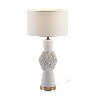 Design KNB Table Light in White Ceramic and Golden Metal without a Lampshade