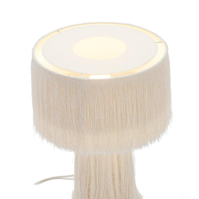 Design KNB Table Light with Fabric and Threads in Black or White