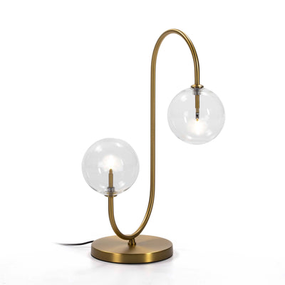 Design KNB Table Light with Glass and Golden Metal