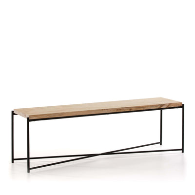 Design KNB TV Furniture in White Washed Wood with Black Metal Legs