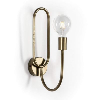 Design KNB Wall Lamp in Golden Metal