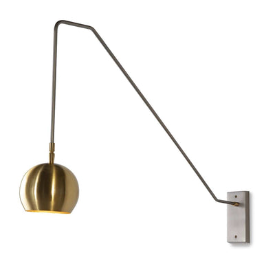 Design KNB Wall Light in Grey and Golden Metal
