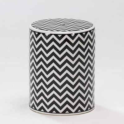 Design KNB White and Black Ceramic Stool/ Side Table