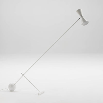 Design KNB White Floor Lamp in White or Gold Metal with a Lampshade
