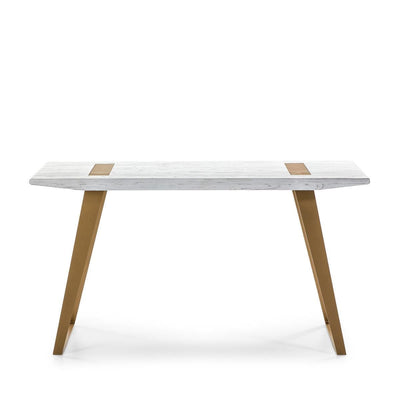 Design KNB Wooden Desk in Gold and White