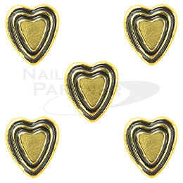 Clou Vintage Heart Gold 5pcs