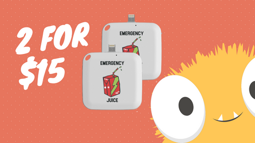 2 for $15 - Emergency One Time Use Charger - White