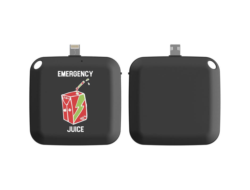 Emergency One Time Use Charger - Black
