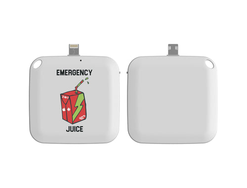 Emergency One Time Use Charger - White