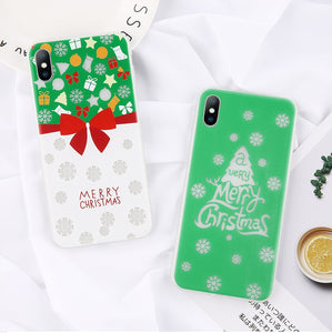 Luminous Christmas Phone Cases For iPhone