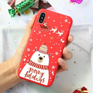 Red Christmas Phone Case For iPhone