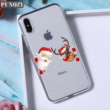 Load image into Gallery viewer, Transparent Christmas Phone Case For iphone