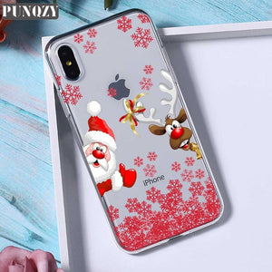 Transparent Christmas Phone Case For iphone