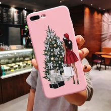 Load image into Gallery viewer, Cute Girl Christmas Phone Case For iPhone