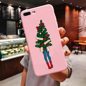 Cute Girl Christmas Phone Case For iPhone